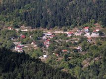 Small Greek Village Royalty Free Stock Images
