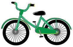 Small green bike vector illustration