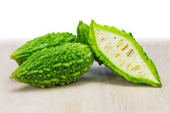 Small green bitter melon Royalty Free Stock Photos