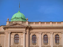 Small green dome and facade of parlament building Stock Image