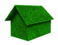 Small green grass house Stock Photo