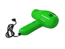 Small green hairdryer Stock Photo