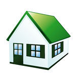 Small Green House Royalty Free Stock Photos