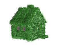 Small green house covered with a grass. Stock Photography
