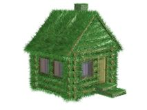 Small green house covered with a grass. Stock Photos