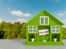 Small green house for rent. Stock Photo
