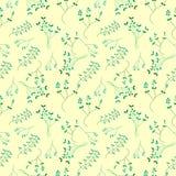 Autumn Leaves seamless pattern background stock illustration