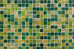 Small green mosaic tiles Stock Images