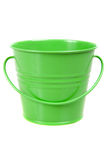 Small green pail, bucket. Isolated stock image