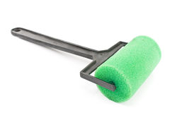 Small green paint roller Royalty Free Stock Image