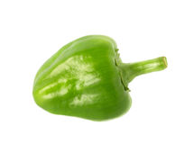 Small green peppers isolated Stock Images