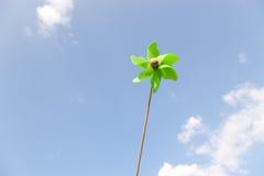 Small green pinwheel Royalty Free Stock Photo