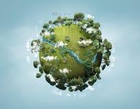 Small green planet vector illustration