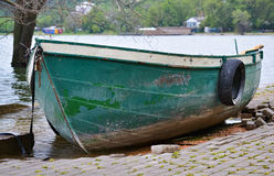 Small green rowboat Stock Photography