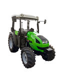 Small green tractor stock photography
