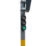 Small green traffic light Stock Photography
