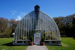 Big greenhouse. In park during spring Royalty Free Stock Photos