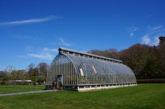 Small greenhouse. In park during spring Royalty Free Stock Photo
