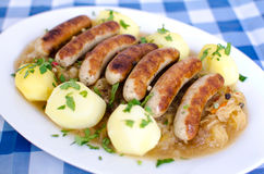 Small grilled sausages Stock Images