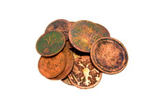 Small group of ancient coins Stock Photography
