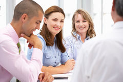 Small Group of Business People in Meeting royalty free stock photos