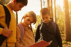 Small group of children. royalty free stock photos