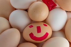 Small group of eggs. Of different colours stock image