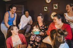 Enjoying Birthday Celebrations royalty free stock image