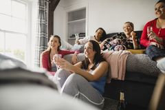 Relaxing Ladies Night stock photography