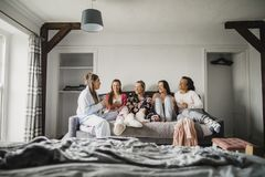 Relaxing in Their Pyjamas royalty free stock photography