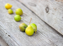 Small group of fresh natural pears Stock Photography