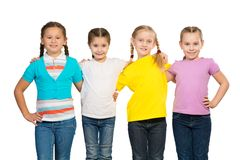 Small group of girls Royalty Free Stock Images