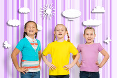 Small group of girls Royalty Free Stock Photo