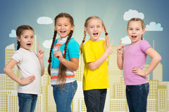 Small group of girls Stock Photography
