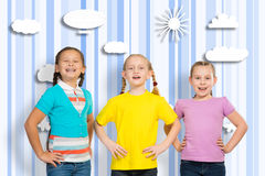 Small group of girls Royalty Free Stock Photos