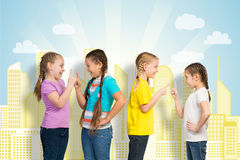 Small group of girls Royalty Free Stock Image