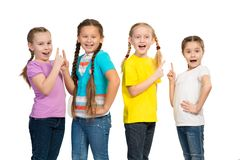 Small group of girls Stock Image