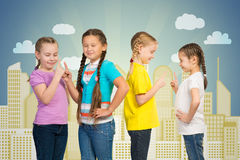 Small group of girls Stock Images