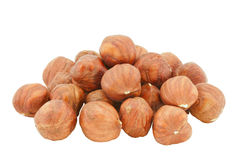 Small group of hazelnuts. Stock Photography