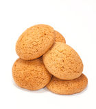 Small group of oat cookie. Isolated on a white background Stock Image