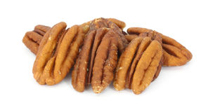 Small group of pecans Royalty Free Stock Images