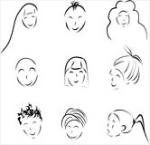 Small group of people cartoon style Royalty Free Stock Photos