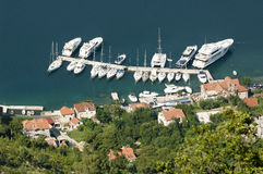 Small group of sail boats in a marina Royalty Free Stock Image