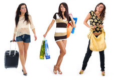 Small group shopping girl Stock Image