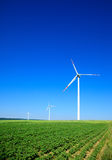 Small group of wind turbines Stock Image