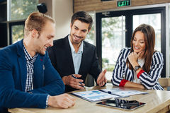 Small group of young people at a business meeting Royalty Free Stock Photo