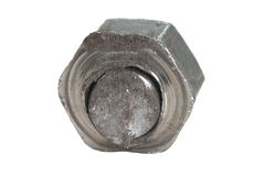 Small grunged nut Stock Images
