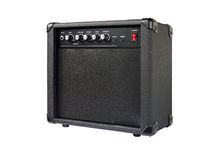 Small guitar amplifier isolated Royalty Free Stock Photo