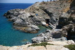 Small gulf. A small gulm in Amorgos island, Greece Royalty Free Stock Photos