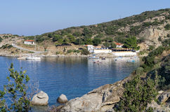 Small gulf and dock in Chalkidiki, Greece Stock Photo